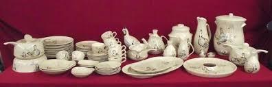 Red Wing Ceramic Dinnerware Set \u0027\u0027Bob White\u0027\u0027. Loading zoom White\u0027\u0027