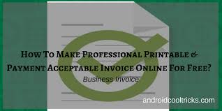 How To Make Professional Printable Invoice Online For Free