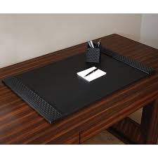 leather desk blotter. Limited Production Design: Black Woven Leather Desk Pad * Partner Pencil Cups \u0026 Handbag Magazine Holders Available Click Image For Full Screen View Blotter