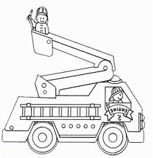 Fire Truck Coloring Pages For Preschoolers Free Fire Truck Coloring