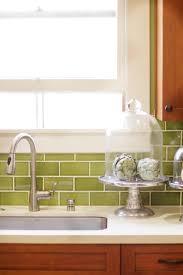 Green Ceramic Subway Tile Backsplash