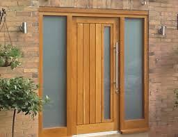 Solidor Composite Door In Irish Oak Front Door And Side Panels Solid Wood Contemporary Front Doors Uk