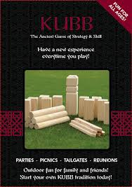 Lawn Game With Wooden Blocks MadWood Products Kubb Game 72