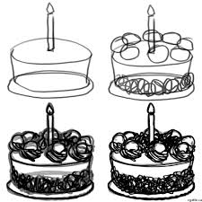 Cake Cartoon Drawing In 4 Steps With Photoshop