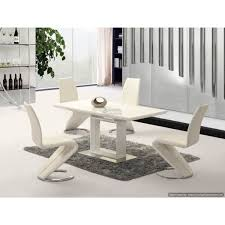 space white high gloss extending dining table 120cm to 160cm