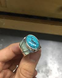 warrior ring with ithaca peak turquoise that i picked up at the kingman mine this weekend