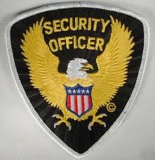 New brand security officer shoulder patch