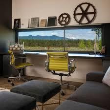 modern home office design. Home Office - Modern Built-in Desk Idea Design