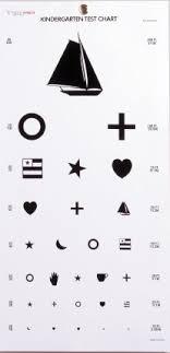 Child Eye Test Chart Eye Test Chart 20 Feet Kindergarten Child Shapes