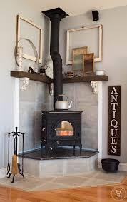 diy corner fireplace mantle makeover