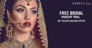 shapes style lounge free bridal makeup trail