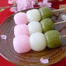 Flatten the mochi ball and place 1 frozen red bean paste ball in the center. Queeeeeeeeee Deliiciiiaaaa Daangoooo Asian Desserts Dango Recipe Food