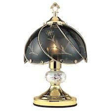 fl brushed gold touch lamp