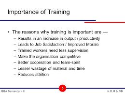 On Job Training Objectives Unit 4 Training Development Bba Semester Iiih R M Ob