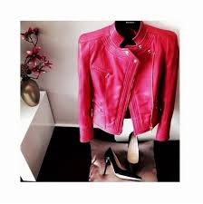 jacket red leather jacket hot hot miami styles fall outfits hipster chanel style jacket