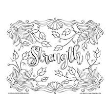 Dragon coloring pages for adults. Strength Inspirational Coloring Page