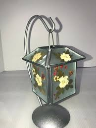 pressed flowers in glass details about dried pressed flowers hanging lantern candle holder metal glass leaded