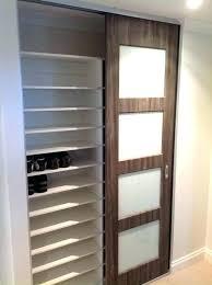 built in shoe rack closet