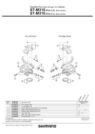 Shimano Altus Sl M310 Front Shifter 3sp User Manual