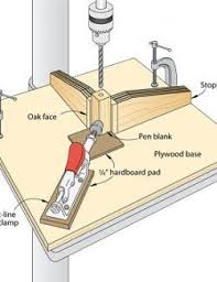 Square Base With Tools On It Red Clamp Woodturning Wood