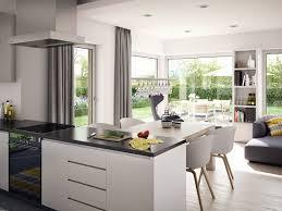 Offene Küche Mit Esstisch Wohn Esszimmer Modern Einrichten