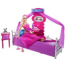 Barbie Deluxe Furniture and Doll Set Bed to Breakfast Mattel