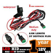 medium duty waterproof 12v led or hid wiring harness for spot or medium duty waterproof 12v led or hid wiring harness for spot or flood lights