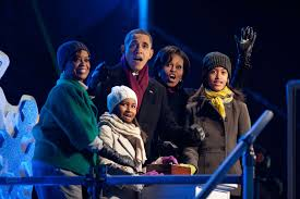 5 4 3 2 1 The Obama Family Lights The National