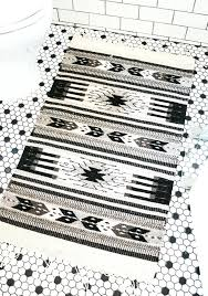 black and white aztec rug grey print ikea