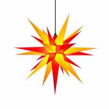 Herrnhuter Weihnachtsstern A7 Gelb Rot Aus Kunststoff Mit Beleuchtung