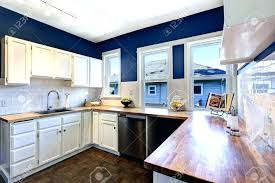 dark blue kitchen cabinets best colours for cupboards colour combination walls white with wall