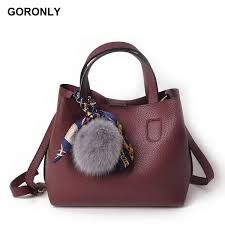 goronly brand fashion leather handbags women designer composite shoulder bags girls messenger bag female casual purses side bags handbag brands from conglan