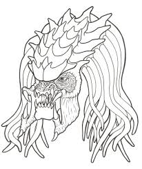 Small Picture Drawn predator linework Pencil and in color drawn predator linework