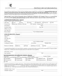 3Rd Party Credit Card Authorization Form Sample Credit Card ...