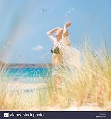 free happy woman enjoying sun on vacations