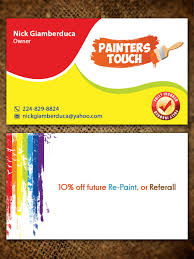 business card design by sandaruwan for residential and commercial painting business card design design