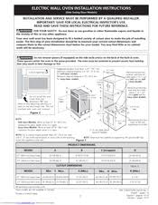 frigidaire gleb27z7hs electric wall oven manuals frigidaire gleb27z7hs electric wall oven installation instructions manual