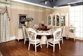 small round dining tables and chairs classic fancy round dining room table