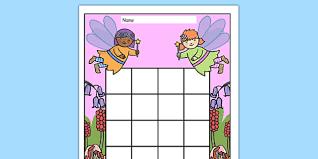Free Fairy Themed Sticker Stamp Reward Chart Fairy