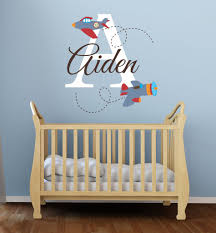 Small Picture Airplane Name Wall Decal