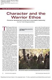 warrior ethos essay wlc warrior ethos essay