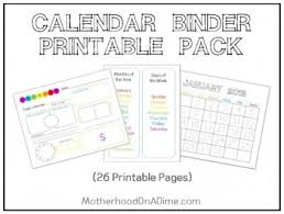 Free Calendar Notebook Printables And Resources