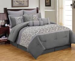 comforter sets stylish grey cotton piece king bedding ensembles heavy grey geometric pattern comforter bed