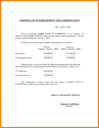 Proof Of Employment Certificate Sample Copy Request Letter Of