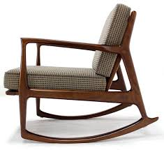 very nice original condition danish modern rocking chair by selig