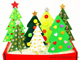 Craft Stick Christmas Tree Craft  Kidsu0027 Crafts  FirstPalettecomFoam Christmas Tree Crafts