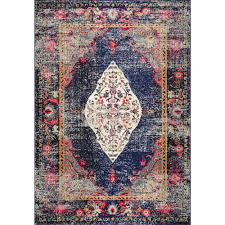 this review is from vintage medallion veronica navy 5 ft x 8 ft area rug