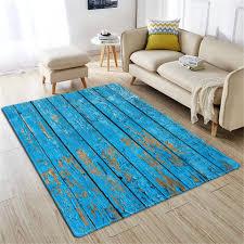 <b>Nordic</b> Retro Old Blue <b>Wood Grain</b> Mats <b>3D</b> For Home Living Room ...