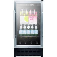 summit 18 inch glass door beverage cooler w digital controls scr1841b
