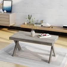 noble house emily indoor farmhouse acacia wood coffee table light grey com